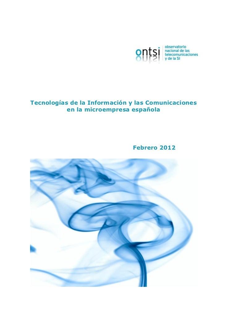 Tecnologías de la Información y las Comunicaciones           en la microempresa española                              Febr...