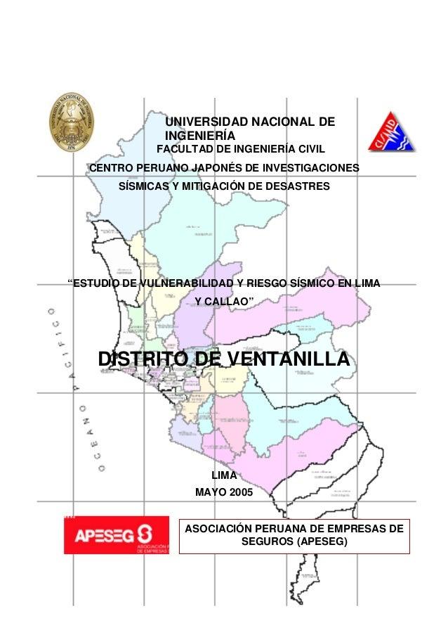 1 UNIVERSIDAD NACIONAL DE INGENIERÍA FACULTAD DE INGENIERÍA CIVIL CENTRO PERUANO JAPONÉS DE INVESTIGACIONES SÍSMICAS Y MIT...