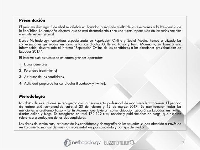 Informe Monitero Online Elecciones Presidenciales Ecuador 2017 Slide 2