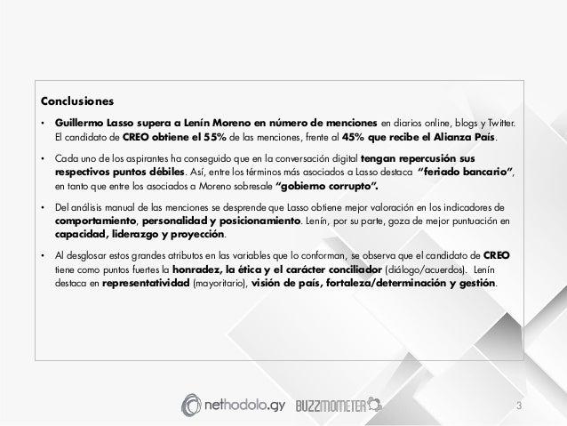 Informe Monitero Online Elecciones Presidenciales Ecuador 2017 Slide 3