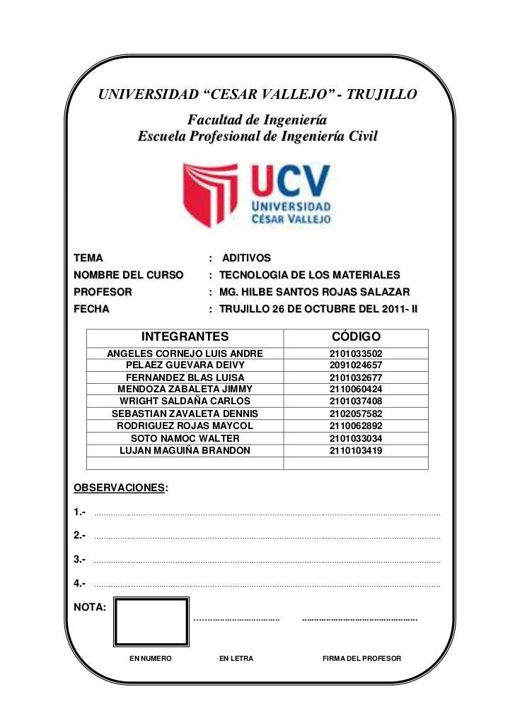 """UNIVERSIDAD """"CESAR VALLEJO"""" - TRUJILLO                    Facultad de Ingeniería             Escuela Profesional de Ingeni..."""