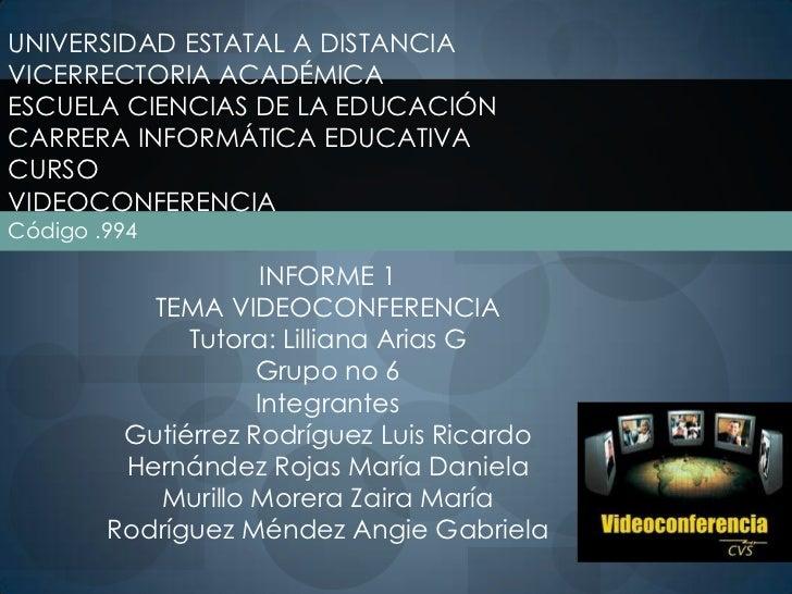 UNIVERSIDAD ESTATAL A DISTANCIAVICERRECTORIA ACADÉMICAESCUELA CIENCIAS DE LA EDUCACIÓNCARRERA INFORMÁTICA EDUCATIVACURSOVI...
