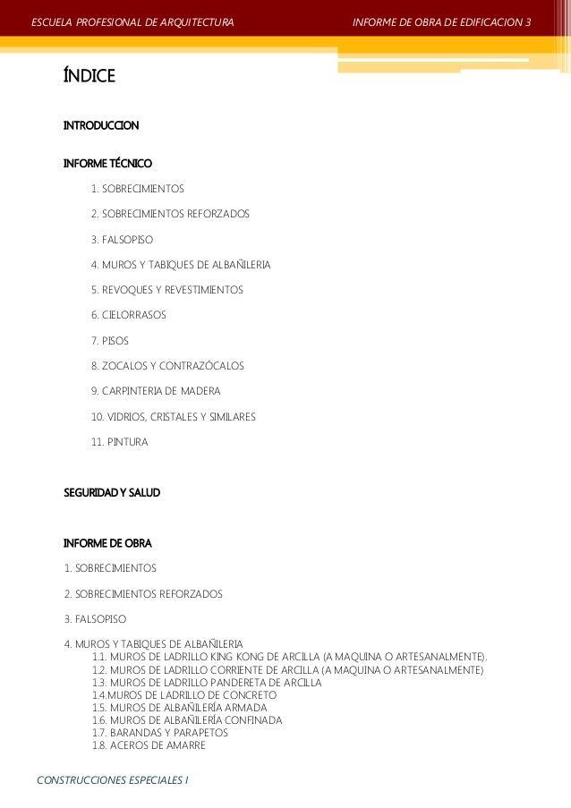 Informe obra de edificacion 3 unprg Slide 2