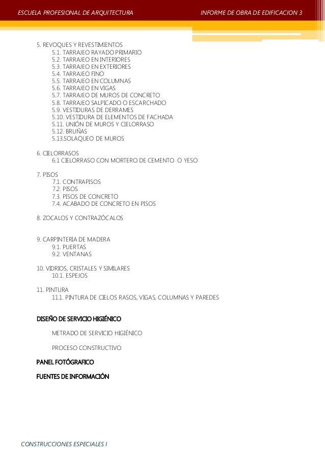 Informe obra de edificacion 3 unprg Slide 3