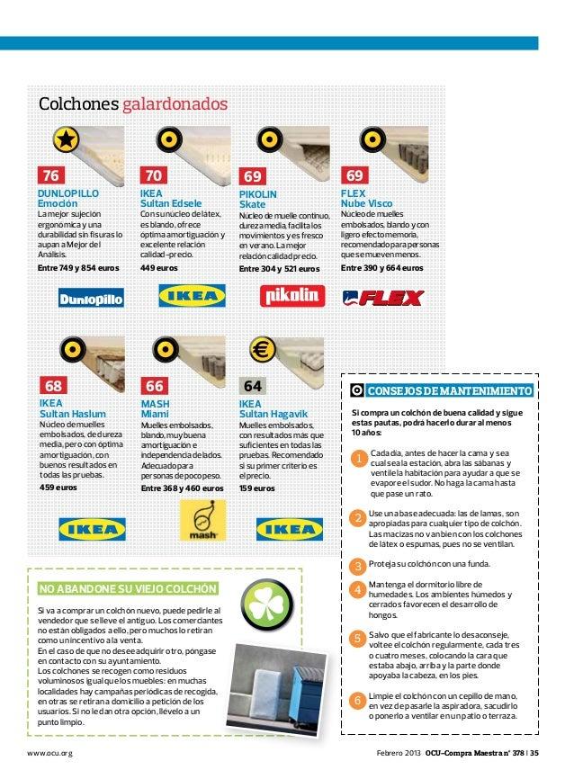 Informe OCU colchones_2013