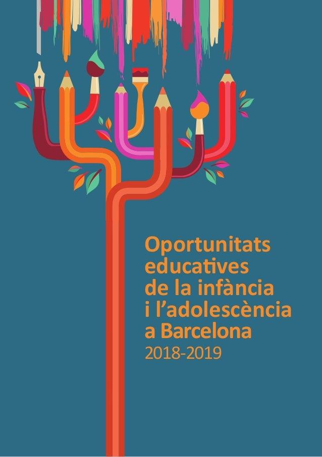 Oportunitats educatives de la infància i l'adolescència a Barcelona 2018-2019