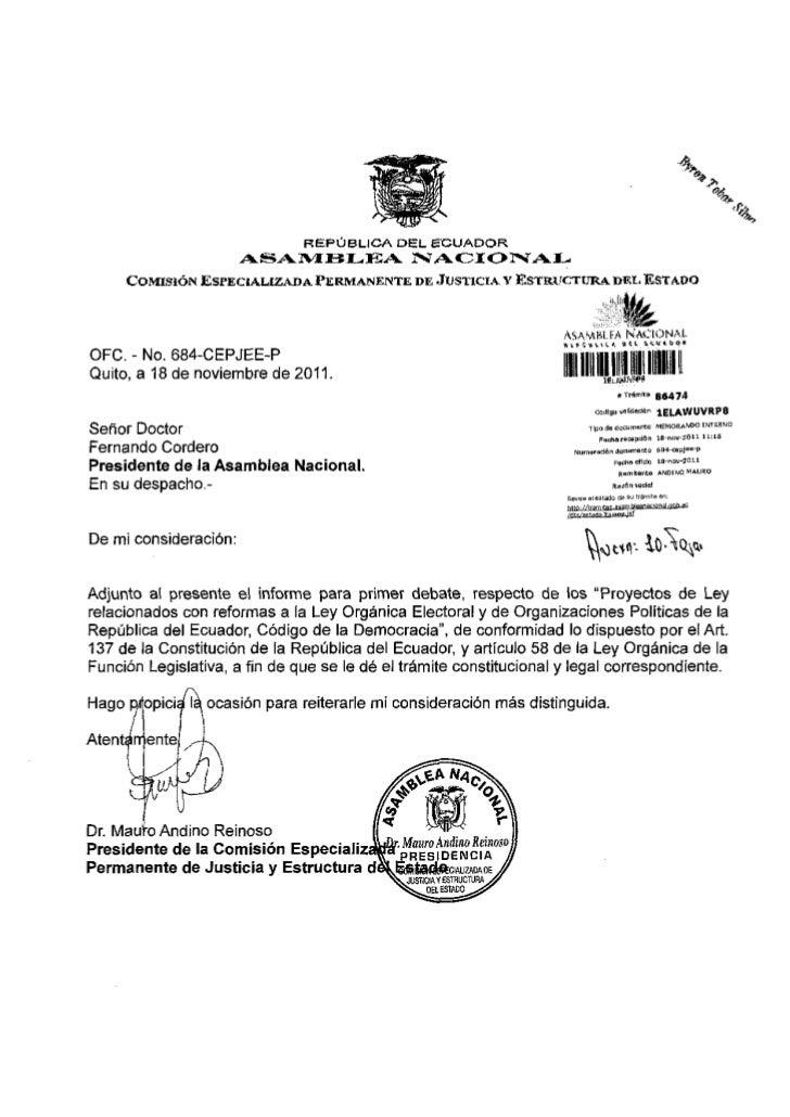 REPÚBLICA DEL ECUADOR                       ASAMBLEA                NACIONAL      COMISIÓN ESPECIALIZADA PERMANENTE DE JUS...