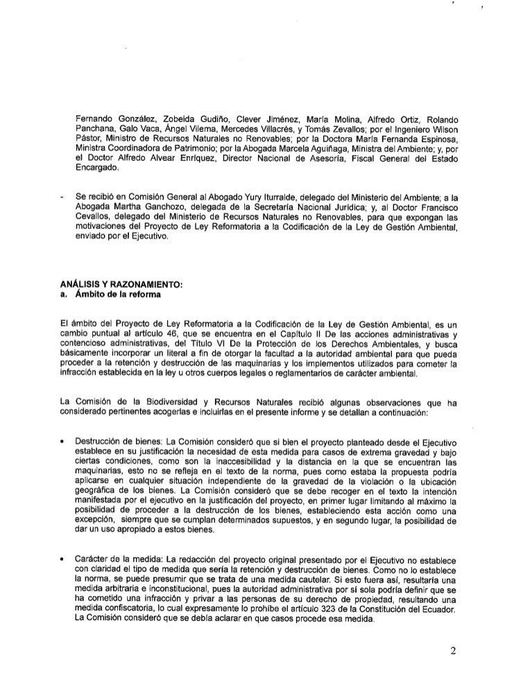 REPÚBLICA DEL ECUADOR                      A SAIVIBI- E A TTACI OITAI-     Medidas efectivas y oportunas: La Comisión cons...