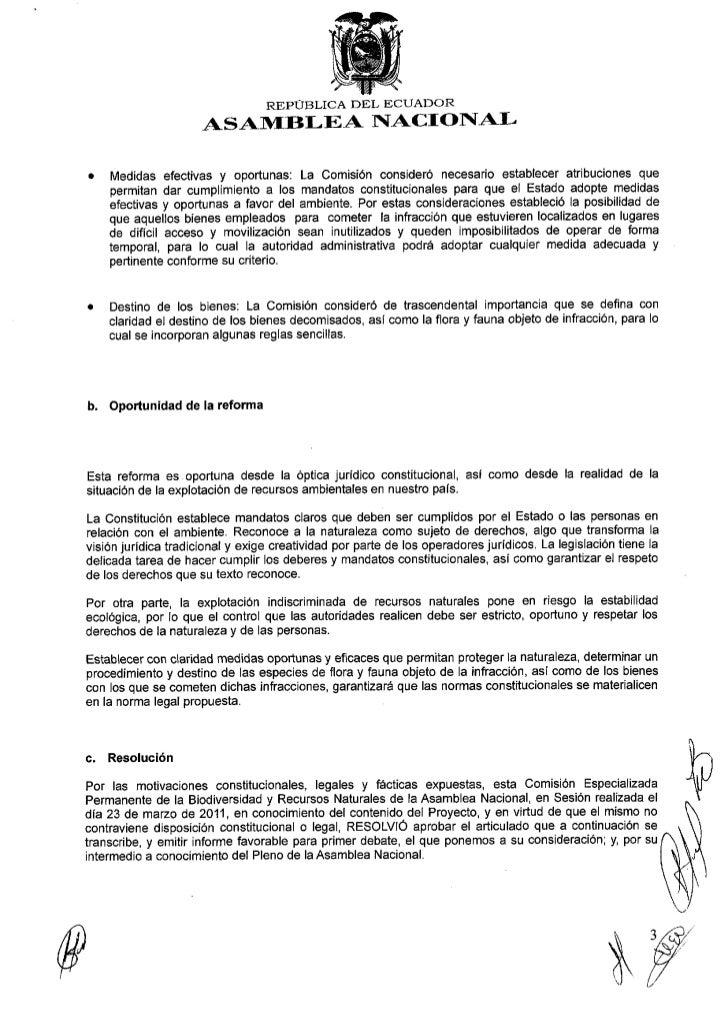 La señora Vicepresidenta de Ia Comisión de la Biodiversidad y Recursos Naturales de Ia AsamDteaNacional, Asamblefsta María...