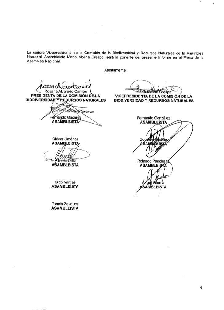 REPUBLICA DEL ECUADOR                     AS AIVTBI-. EA NIACI O1{AI-. PROYECTO DE LEY REFORMATORIA A LA GODIFICACIÓN DE L...