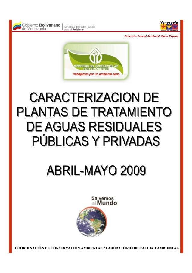 COORDINACICOORDINACIÓÓN DE CONSERVACIN DE CONSERVACIÓÓN AMBIENTAL / LABORATORIO DE CALIDAD AMBIENTALN AMBIENTAL / LABORATO...