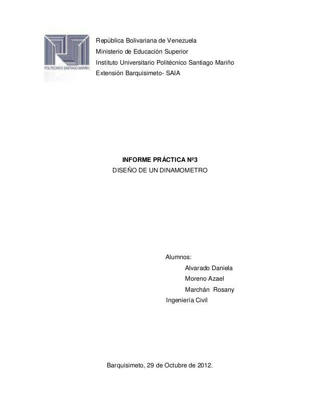 República Bolivariana de VenezuelaMinisterio de Educación SuperiorInstituto Universitario Politécnico Santiago MariñoExten...