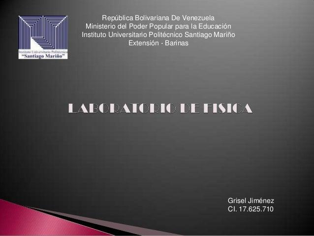República Bolivariana De Venezuela  Ministerio del Poder Popular para la EducaciónInstituto Universitario Politécnico Sant...