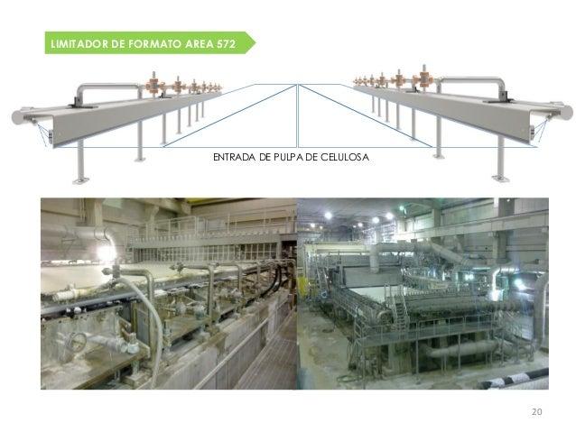 LIMITADOR DE FORMATO AREA 572                         ENTRADA DE PULPA DE CELULOSA                                        ...