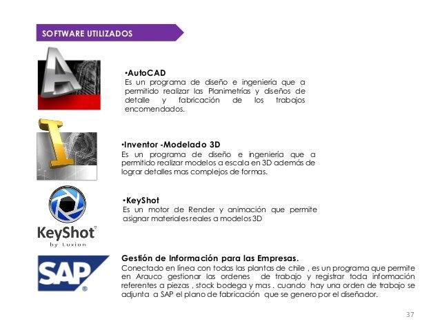 SOFTWARE UTILIZADOS                 •AutoCAD                 Es un programa de diseño e ingeniería que a                 p...