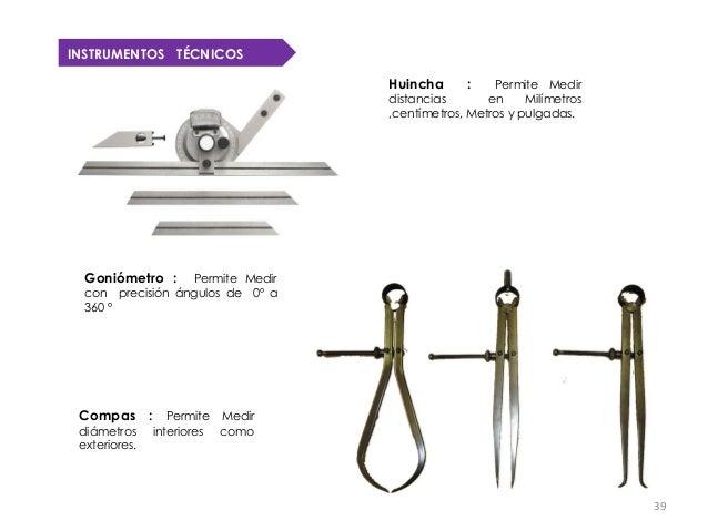 INSTRUMENTOS TÉCNICOS                                   Huincha      :    Permite Medir                                   ...