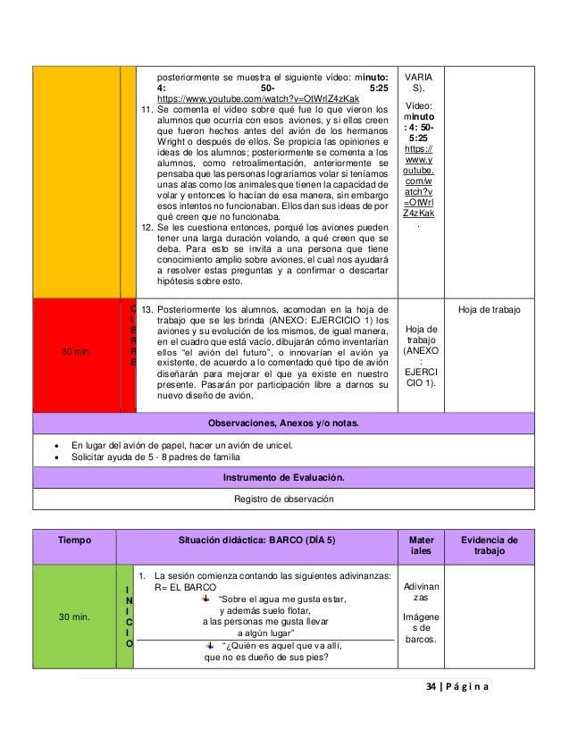 Informe preliminar de práctica