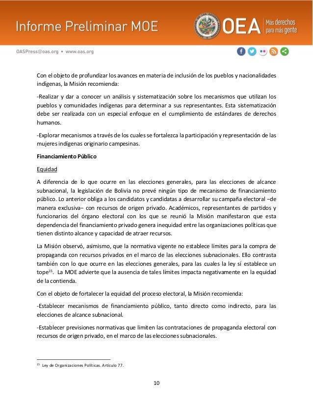 10 Con el objeto de profundizar los avances en materia de inclusión de los pueblos y nacionalidades indígenas, la Misión r...