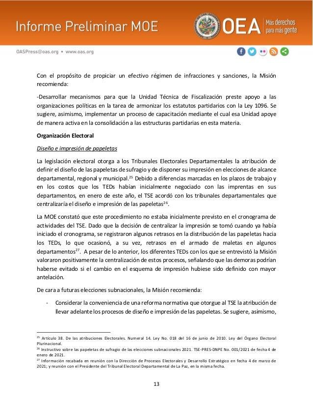 13 Con el propósito de propiciar un efectivo régimen de infracciones y sanciones, la Misión recomienda: -Desarrollar mecan...