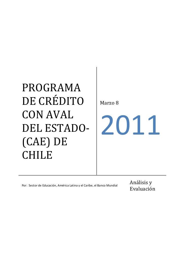 PROGRAMADECRÉDITO                                               Marzo8CONAVALDELESTADO‐(CAE)DE                 ...