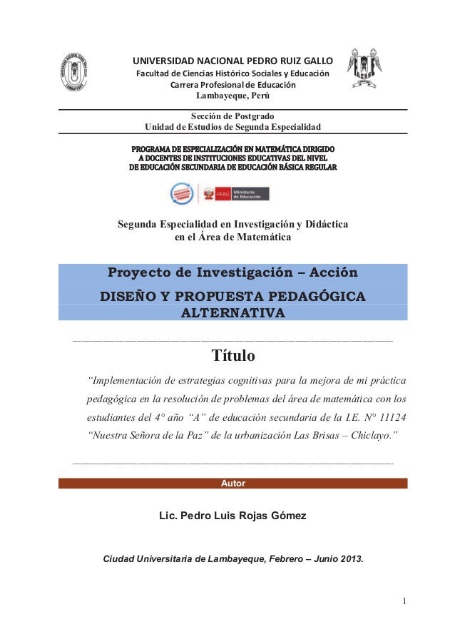 UNIVERSIDAD NACIONAL PEDRO RUIZ GALLO Facultad de Ciencias Histórico Sociales y Educación Carrera Profesional de Educación...