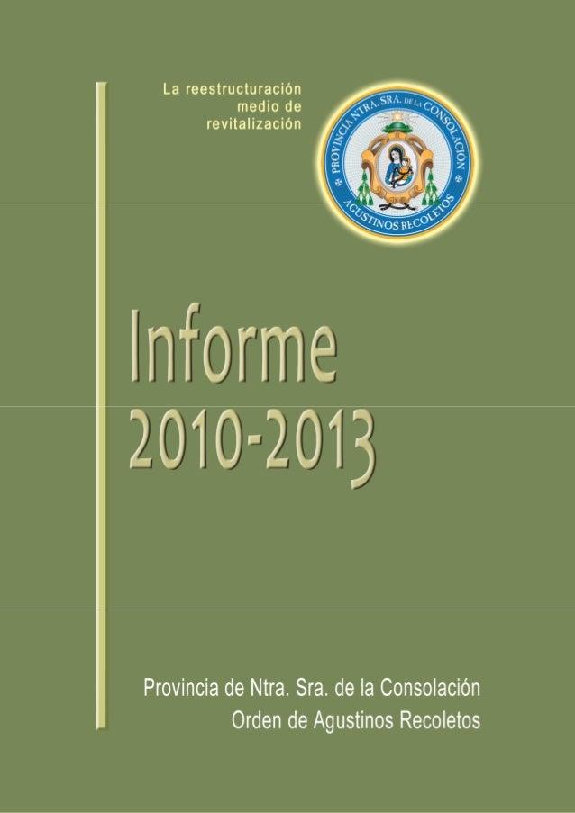 CONTENIDO5    PRESENTACIÓN     Prot. N. 192/20127    1. VISIÓN PANORÁMICA DE LA PROVINCIA         1.1. Presencia y realida...
