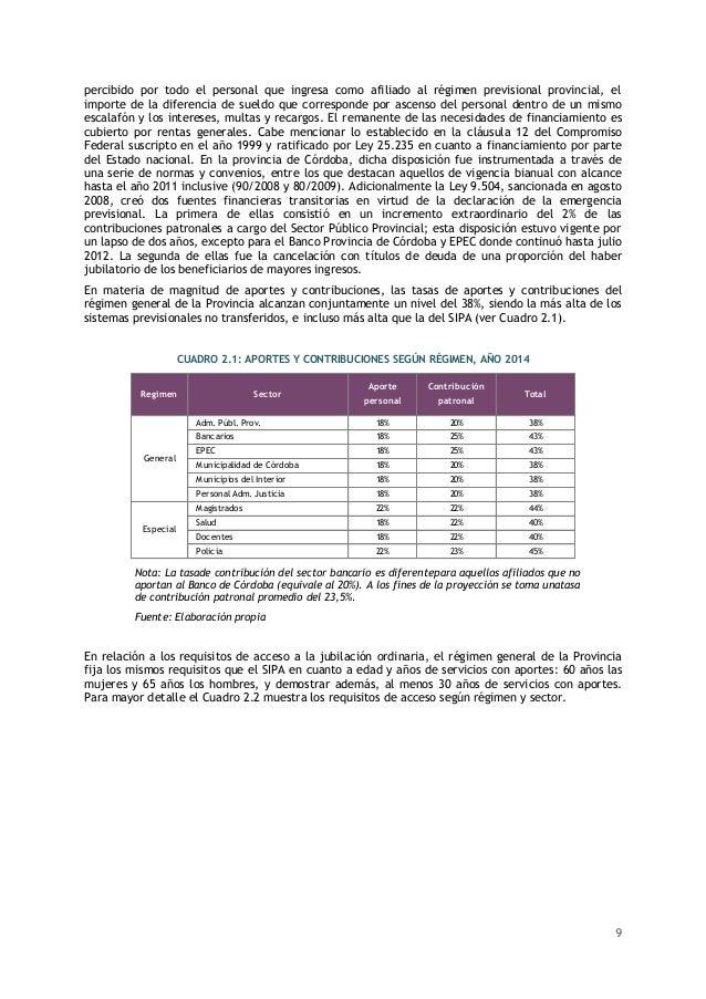Informe proyección Actuarial 2014 - 2050