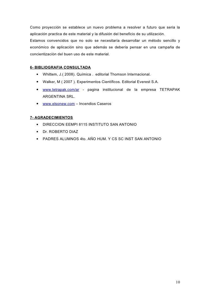 Informe proyecto feria de ciencias 2009 inst san antonio - Como solucionar problemas de condensacion en una vivienda ...