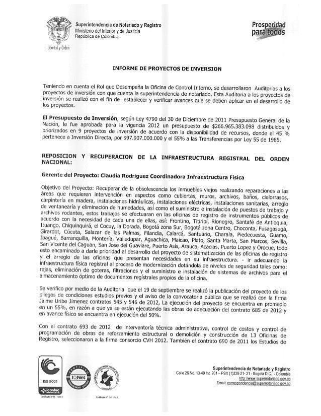 Informeproyectosinversion2013