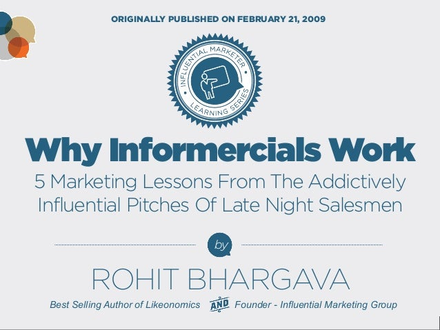 Why Informercials Work 5 Marketing Lessons From The Addictively Influential Pitches Of Late Night Salesmen  by  ORIGINALLY...