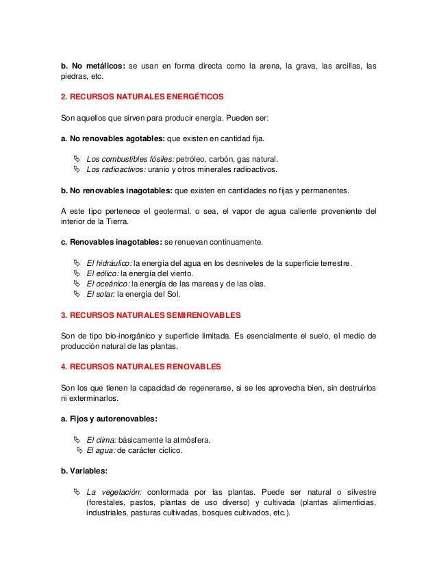 deterioro de los recursos naturales pdf