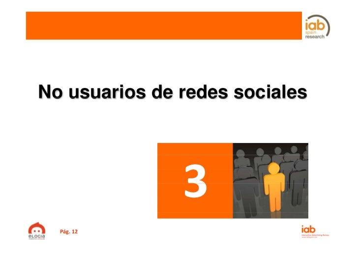 No usuarios de redes sociales  Pág.12