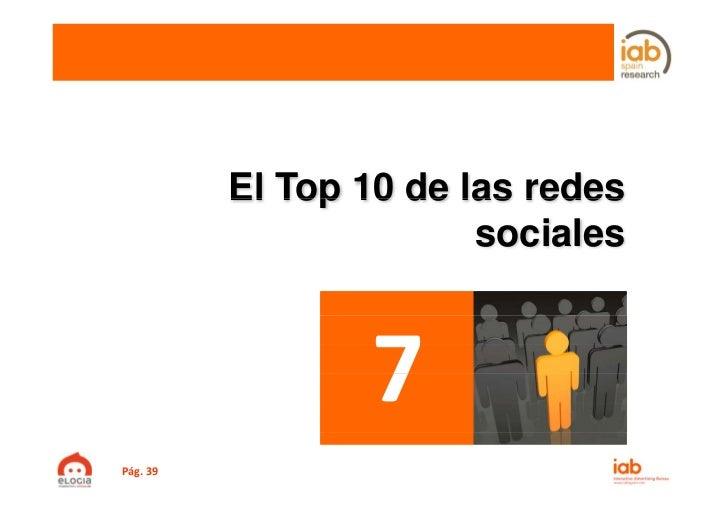 El Top 10 de las redes                        socialesPág.39