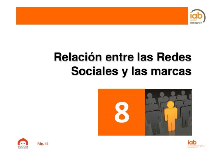 Relación entre las Redes             Sociales y las marcasPág.44