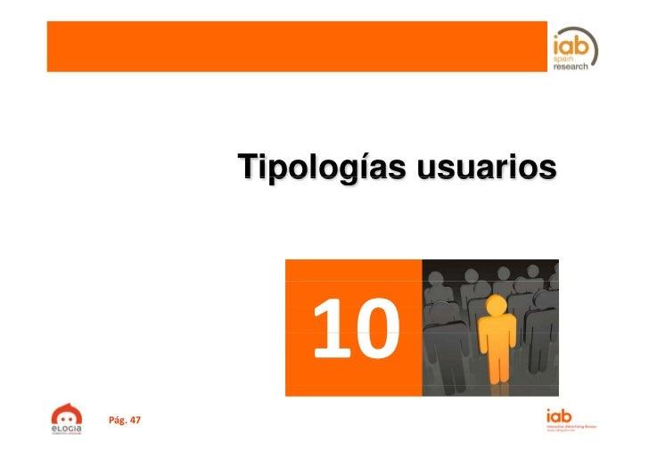 Tipologías usuariosPág.47