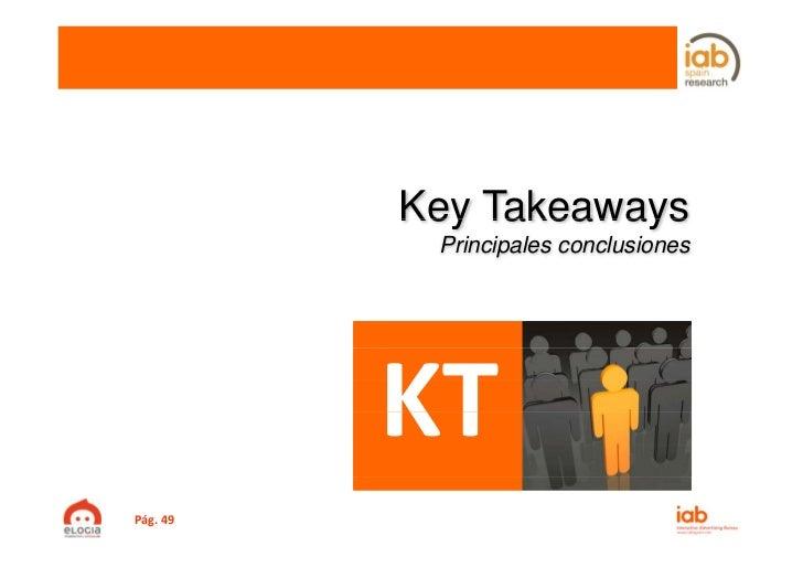 Key Takeaways           Principales conclusionesPág.49