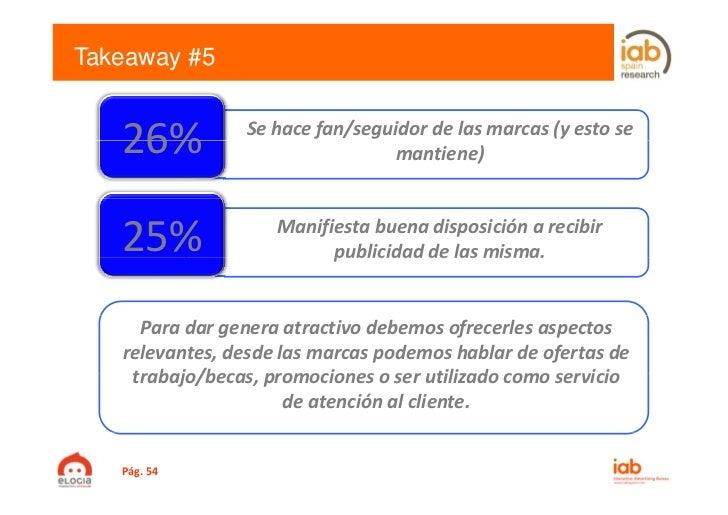 Takeaway #5   26%           Sehacefan/seguidordelasmarcas(yestose                                  mantiene)   25...