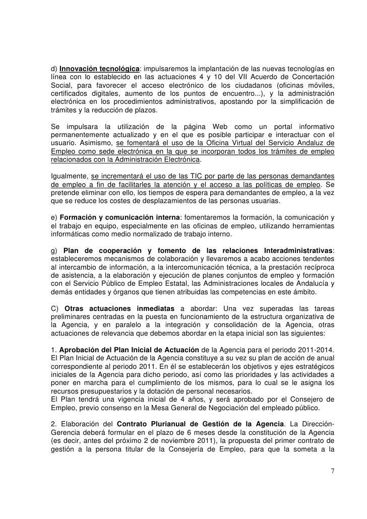 Informe sobre el proceso de reestructuraci n del servicio - Oficina virtual junta de andalucia ...