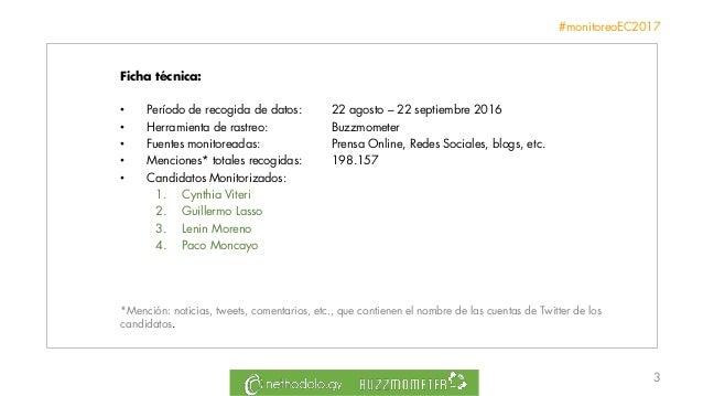 Informe Reputación Online Elecciones Presidenciales Ecuador 2017 Slide 3
