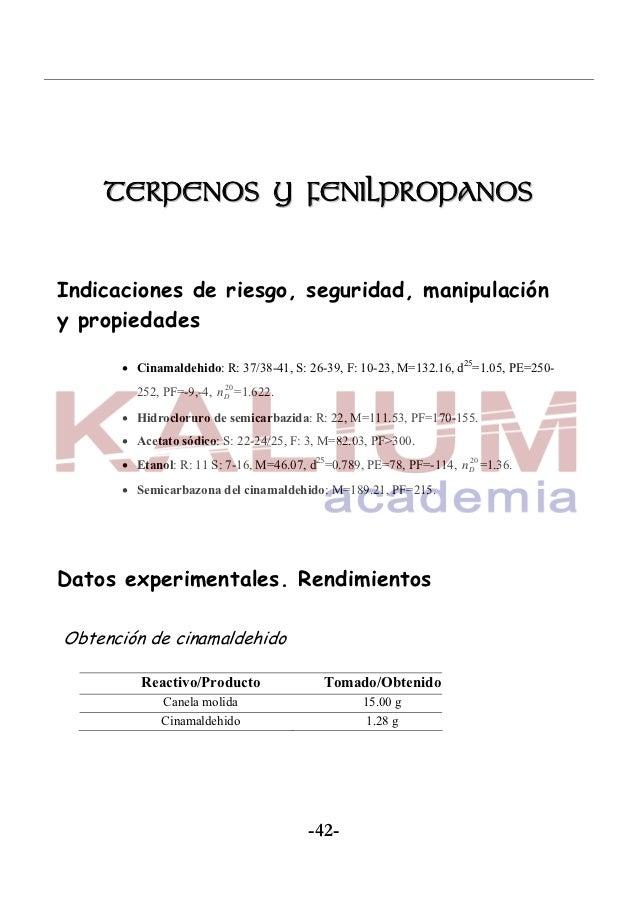 Informes Experimentación en Química Orgánica