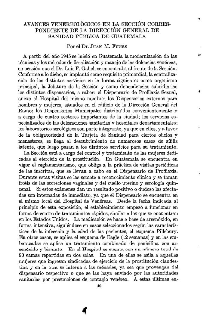 AVANCES VENEREOLÓGICOS     EN LA SECCIÓN CORRES-      PONDIENTE   DE LA DIRECCIÓN  GENERAL DE          SANIDAD   PUBLICA D...