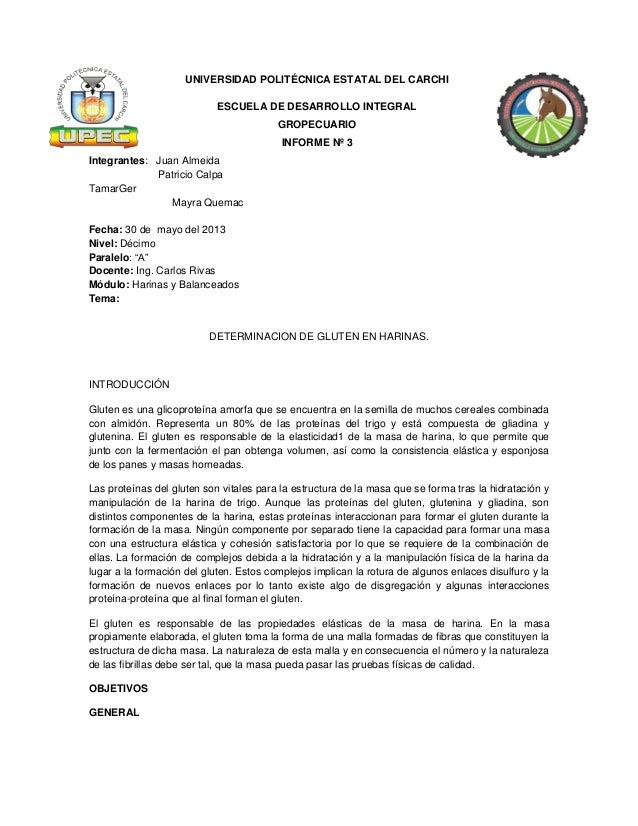 UNIVERSIDAD POLITÉCNICA ESTATAL DEL CARCHIESCUELA DE DESARROLLO INTEGRALGROPECUARIOINFORME Nº 3Integrantes: Juan AlmeidaPa...