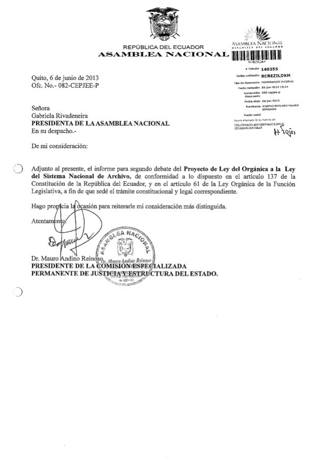 Informe segundo debate ley archivo