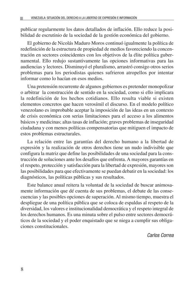 E n el año 2014 enVenezuela hubo un contexto de conflictividad social, con movilizaciones estudiantiles enmarcadas en la e...