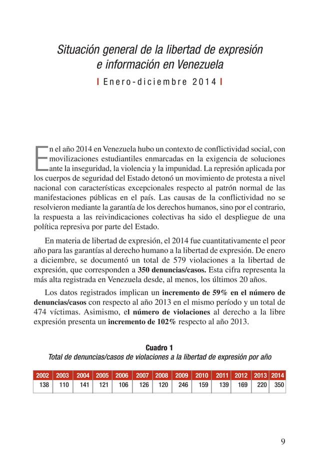 En el mes de febrero durante las protestas de calle, se registraron 86 casos de violaciones del derecho a la libertad de e...
