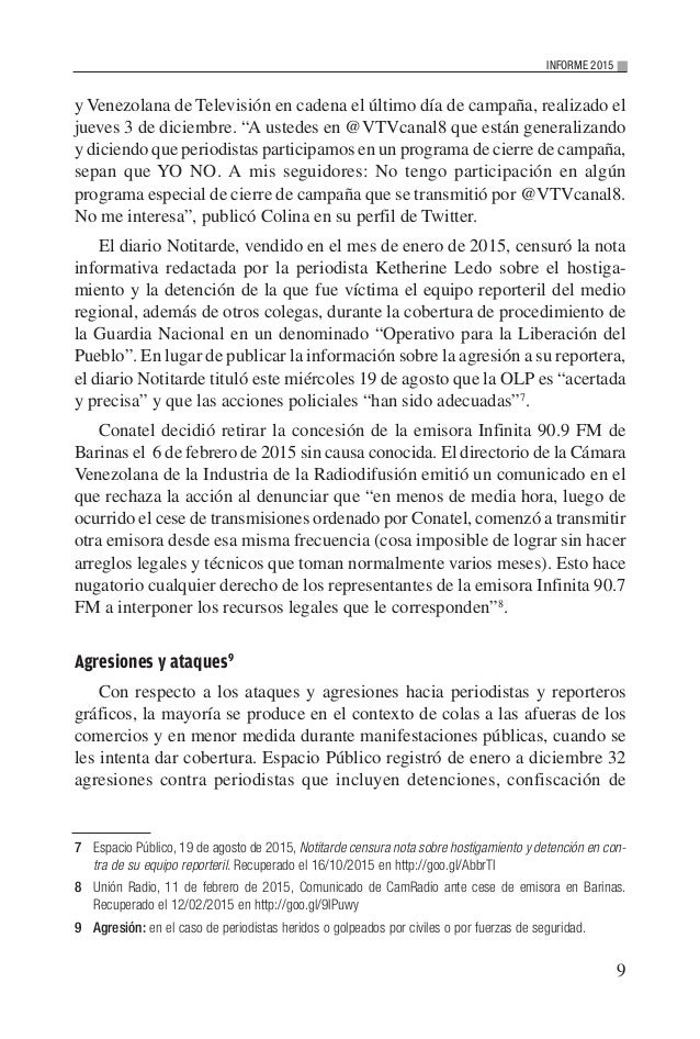 """9 INFORME 2015 y Venezolana de Televisión en cadena el último día de campaña, realizado el jueves 3 de diciembre. """"A usted..."""