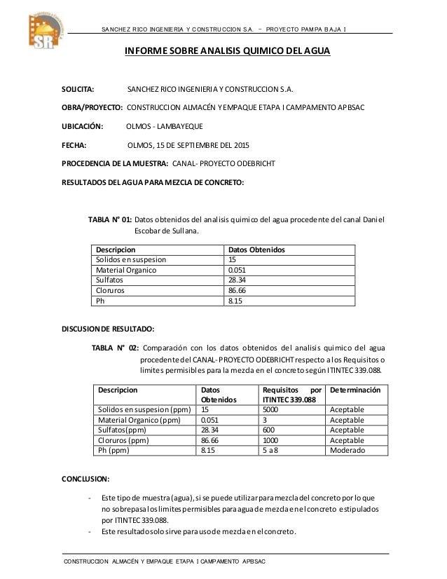 SANCHEZ RICO INGENIERIA Y CONSTRUCCION S.A. – PROYECTO PAMPA BAJA I CONSTRUCCION ALMACÉN Y EMPAQUE ETAPA I CAMPAMENTO APBS...