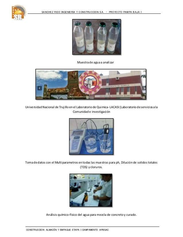 Informe sobre analisis quimico del agua  pampa baja Slide 3
