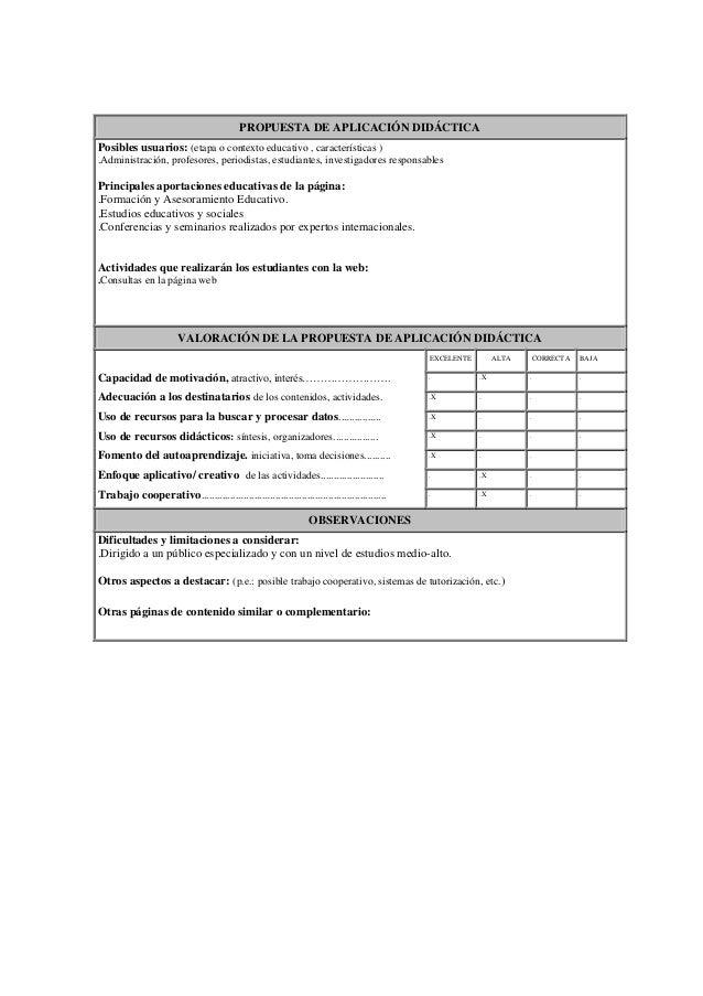 PROPUESTA DE APLICACIÓN DIDÁCTICAPosibles usuarios: (etapa o contexto educativo , características ).Administración, profes...