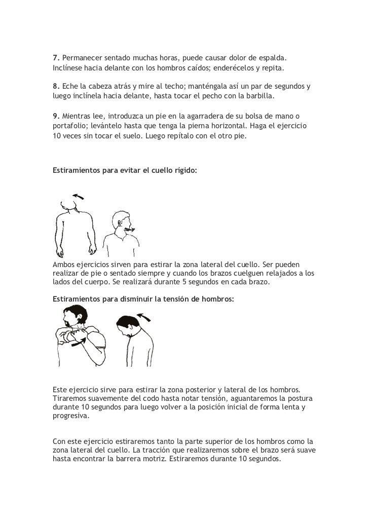 Informe sobre la ergonomia